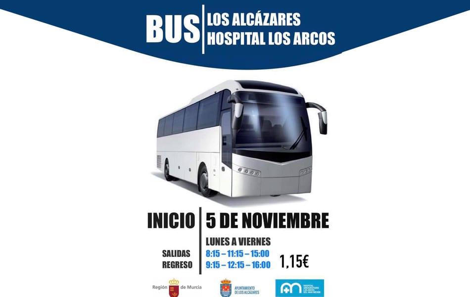 Nueva linea de autobús desde Los Alcázares al Hospital Los Arcos