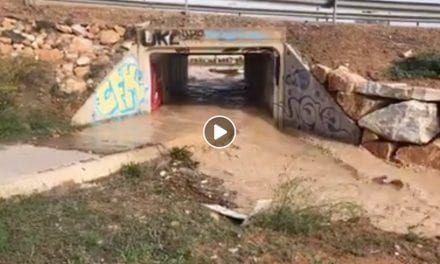 Video desde la rotonda de Pozo Alejo después de la tormenta