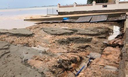 La mejora meteorológica permite reabrir calles cortadas en San Javier