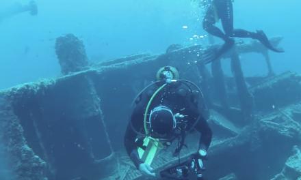 Video de buceo a naufragio en Cabo de Palos