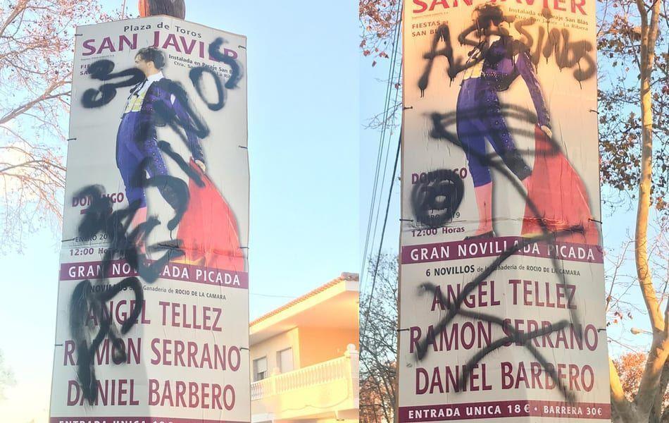 Siguen las protestas en contra de la corrida de toros en Santiago de la Ribera