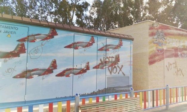 Vandalismo en el parque Patrulla Águila