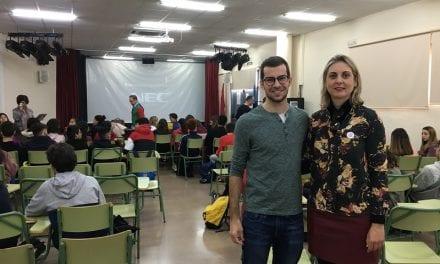 Sergio Cepeda trae a los institutos su proyecto deportivo y solidario a beneficio del cáncer infantil