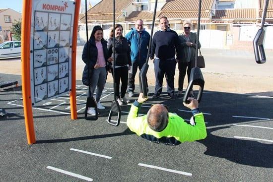 Un nuevo espacio para practicar deporte al aire libre en La Avenida del Puerto