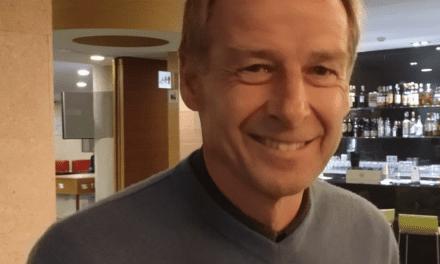 Entrevista a Jürgen Klinsmann durante su estancia en San Pedro del Pinatar
