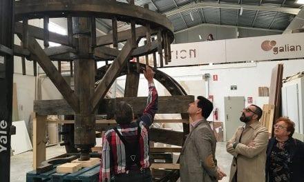 La noria de la Finca Torre Mínguez en San Javier recuperando su aspecto original