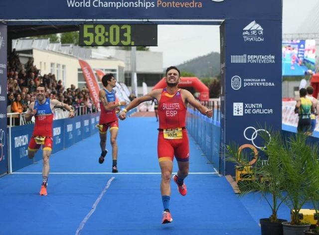 Bienvenido Ballester de San Pedro del Pinatar, campeón del mundo de duatlón