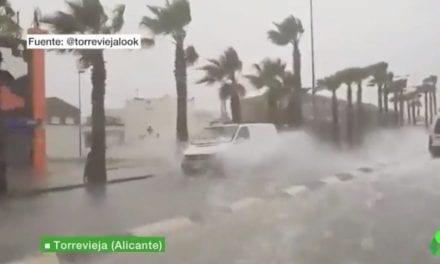 La tormenta de abril más intensa en 50 años deja medio millar de incidencias en toda la Región de Murcia