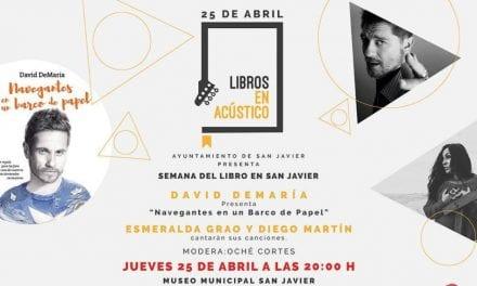 Semana del libro 2019 en San Javier, libros en acústico