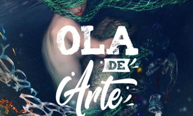"""La """"Ola de Arte"""" estará instalada en la explanada Barnuevo, en Santiago de la Ribera"""