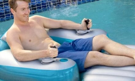 El sueño del verano, un flotador motorizado para piscinas.