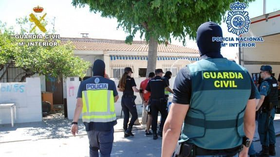 Detención  de 7 miembros de un clan dedicado al tráfico de droga en San Javier