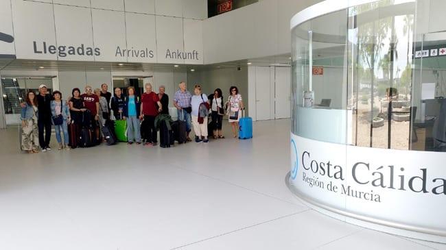 Llegan visitantes checos a disfrutar del turismo en el Mar Menor 2019