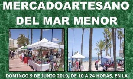El Mercado Artesano del Mar Menor en Santiago de la Ribera 9 de junio 2019