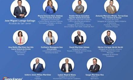 El nuevo alcalde y su gobierno de San Javier 2019