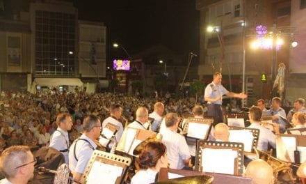 La Unidad de Música de la Academia General de Aire homenajea a la Virgen del Carmen en San Pedro del Pinatar
