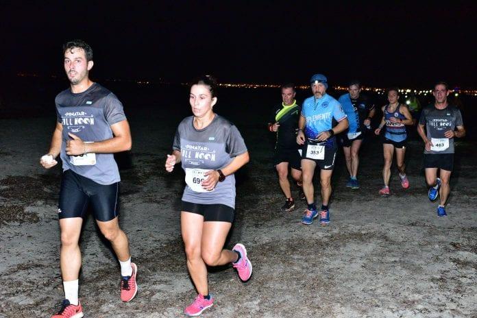 Pinatar Full Moon Race  2019 con 800 atletas participantes