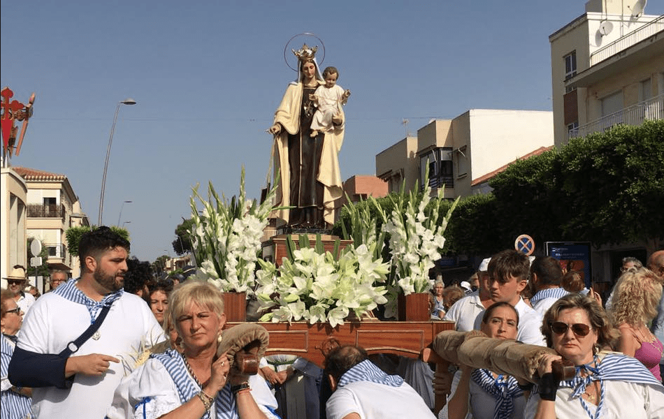 Procesión de la Virgen del Carmen 2019 en Santiago de la Ribera