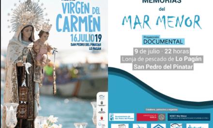 """Proyección del documental """"Memorias del Mar Menor"""" en Lo Pagán 9 de julio 2019"""