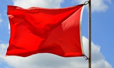 Banderas rojas en la región:  15 hoy lunes