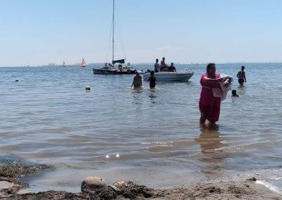 Degradación y reducción de la zona de baño en Playa de Castillicos en Santiago de La Ribera 2