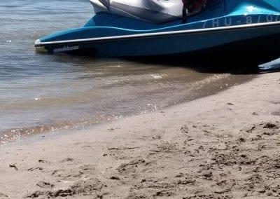 Degradación y reducción de la zona de baño en Playa de Castillicos en Santiago de La Ribera 3
