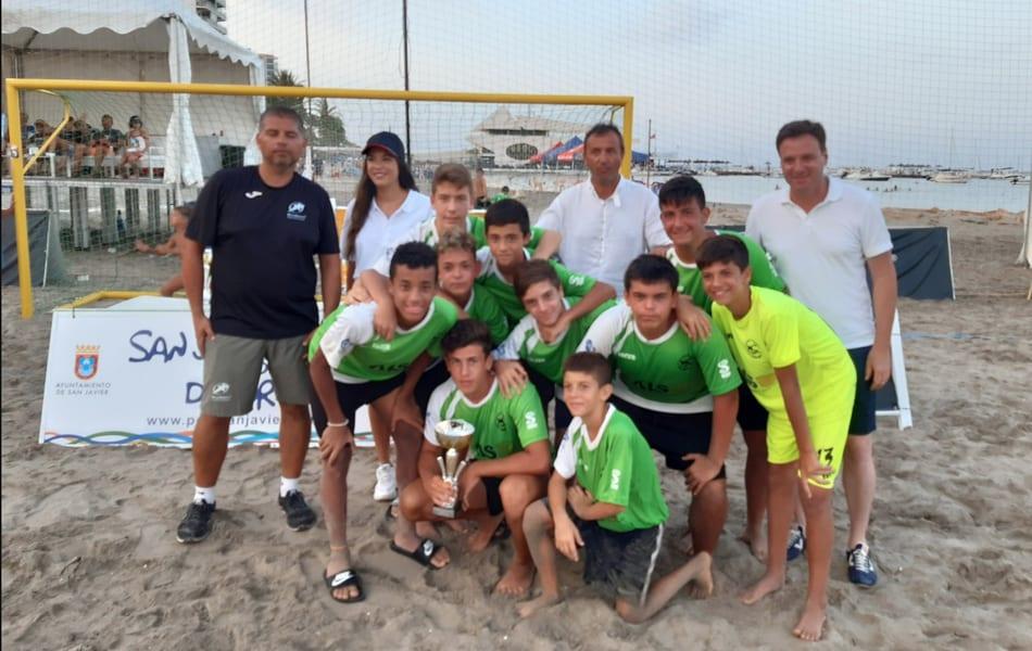 """El AIS San Javier conquista el Circuito """"Mar Menor"""" Fútbol Playa 2019"""