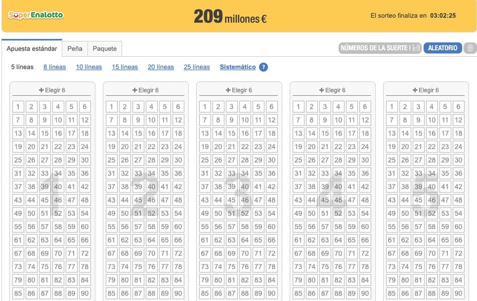 ¡Quedan solo tres horas para jugar al bote record de 209 millones de euros en SuperEnaLotto de Italia!