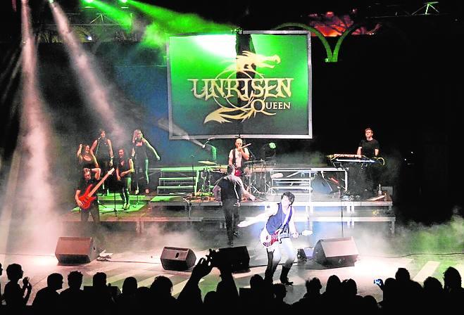 Unrisen Queen en concierto en San Javier