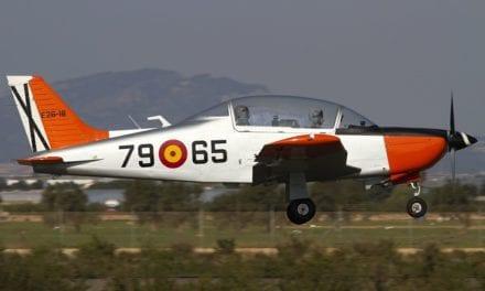 El avión accidentado en San Javier es de los años 80
