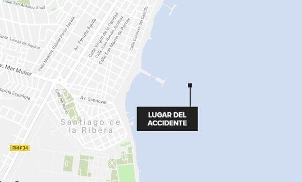 Se estrella una avioneta de la Academia General del Aire de San Javier en el Mar Menor