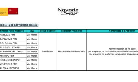 Todas las playas de San Javier tienen bandera roja por lo que está prohibido bañarse