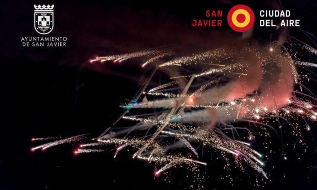 Exhibición Aérea Nocturna 12 de octubre 2019 en Santiago de la Ribera