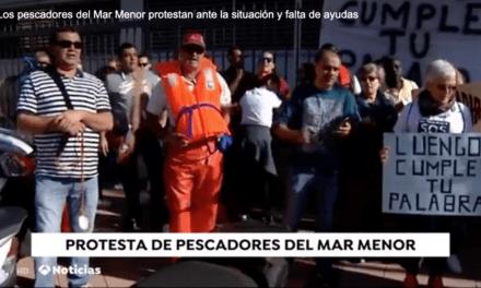 Los pescadores del Mar Menor manifiestan ante la situación y falta de ayudas