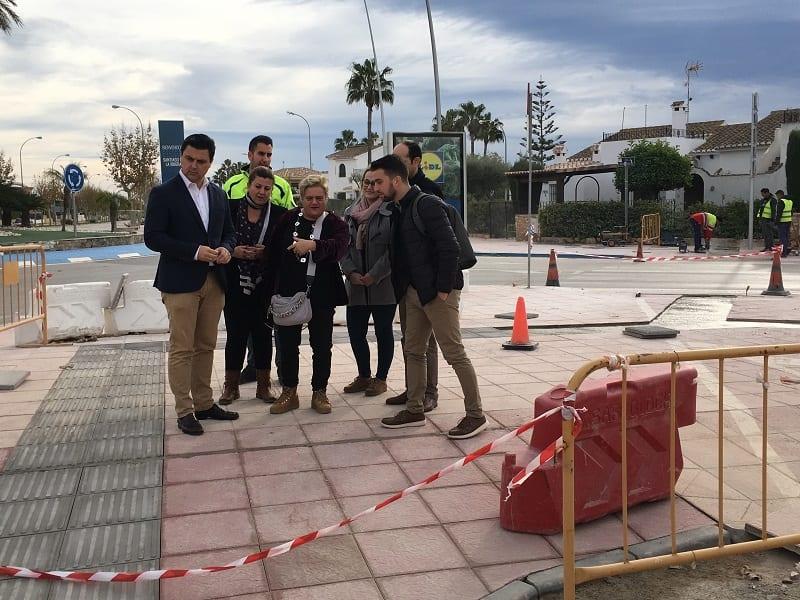 Obras para mejorar la accesibilidad en la avenida que une San Javier y Santiago de la Ribera