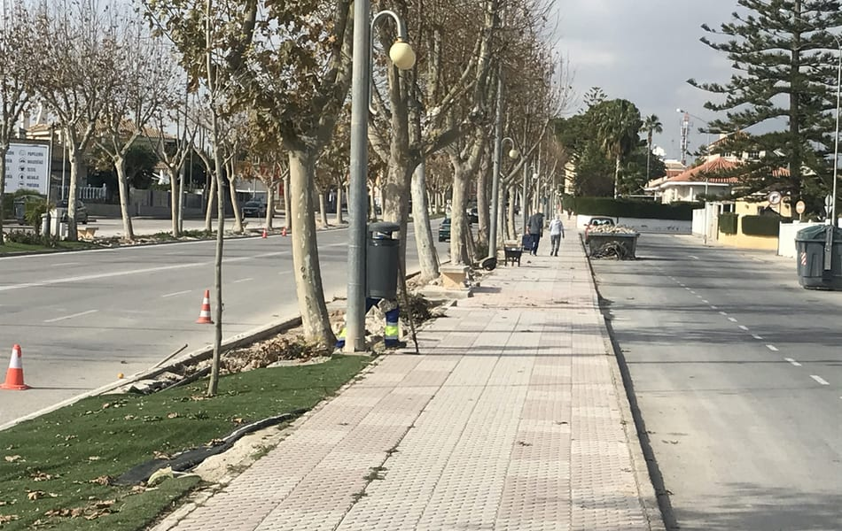Estado de obras en Avenida Aviación Española y Avenida Mar Menor 9 de enero 2020