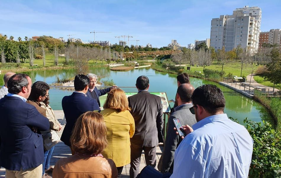 El Ayuntamiento de San Javier estudia la posibilidad de construir de un parque urbano inundable en el Peri de Telefónica