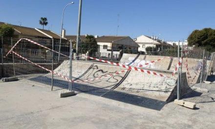 Pistas de skate del Parque Almansa, San Javier cerradas por deterioro