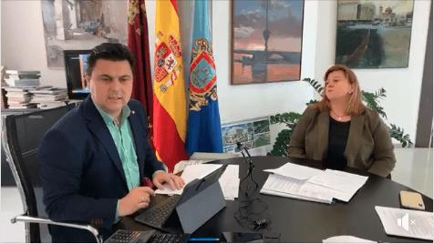 José Miguel Luengo, alcalde de San Javier, actualiza los datos referentes al COVID-19 y lluvias torrenciales en San Javier 25 de Marzo 2020