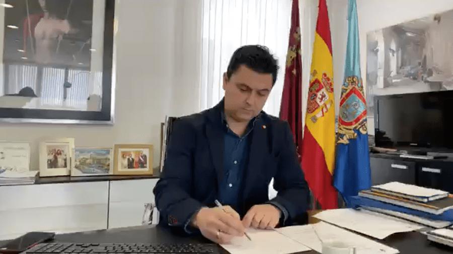 Alcalde de San Javier, José Miguel Luengo informe COVID-19 10 de abril 2020