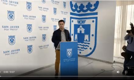 José Miguel Luengo, Alcalde de San Javier explica en el video sobre las medidas preventivas para luchar contra coronavirus 13 de marzo 2020