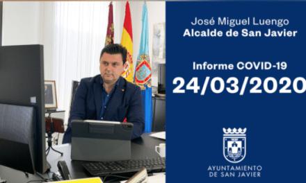 José Miguel Luengo, alcalde de San Javier, actualiza los datos referentes al COVID-19 y lluvias torrenciales en San Javier