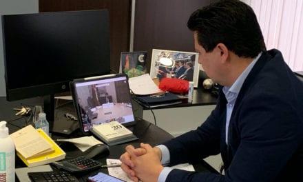 José Miguel Luengo se reúne vía telemática con el presidente, Fernando López Miras para abordar la situación creada por el Coronavirus