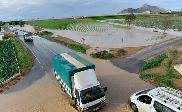 Alertas por  las lluvias en San Javier
