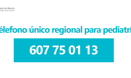 Salud Región de Murcia ha habilitado un télefono para consultas pediátricas y otras incidencias