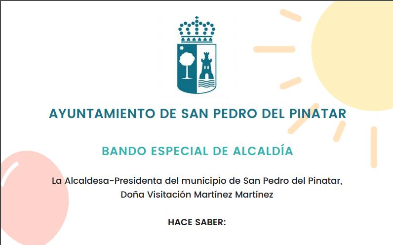 Ayuntamiento de San Pedro del Pinatar celebrará una fiesta multiaventura tras el confinamiento para todos los niños de la localidad