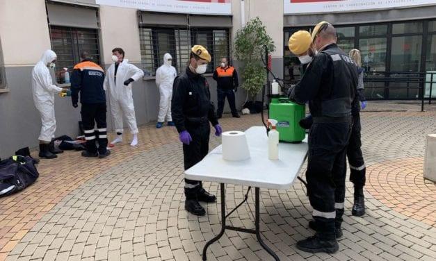 Se forman efectivos de toda la Región por parte de la UME para la  desinfección de espacios públicos