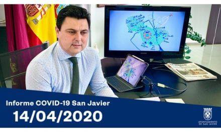 José Miguel Luengo, alcalde de San Javier informe COVID-19 14 de abril 2020