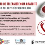 Servicio de Teleasistencia gratuito de Instituto Murciano de Acción Social IMAS San Pedro del Pinatar