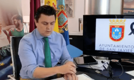 José Miguel Luengo, alcalde de San Javier informe COVID-19 10 de mayo 2020